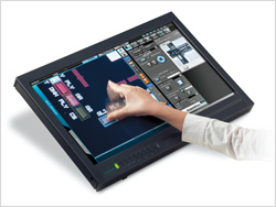 DSX100 Microscope GUI touch screen capability operation