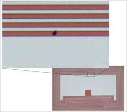 DP26 Patterned resist digitally enlarged
