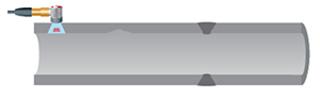 常规UT技术只能检测传感器下面或附近的局部区域。