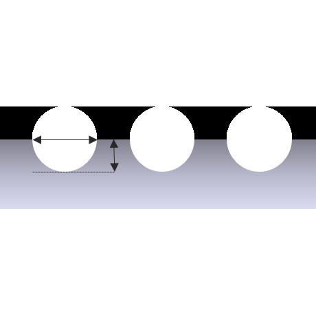 Laser mark cross section