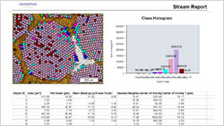 Work flow 4: Report Generation > Olympus Stream materials science software > Olympus Stream, image analysis software