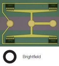 Structure on semiconductor wafer - Brightfield
