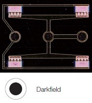 Structure on semiconductor wafer - Darkfield