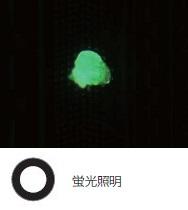 ウエハーサンプル上のフォトレジストの残渣 - 蛍光照明