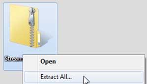 アイコンを右クリックして、ポップアップメニューから[全て展開…]を選択します。