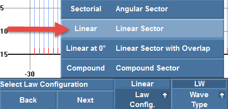 """Setting the law configuration to """"Linear"""