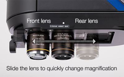 Rapid Switching between Macro and Micro Magnification