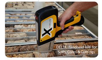 Delta Handheld XRF testing rocks