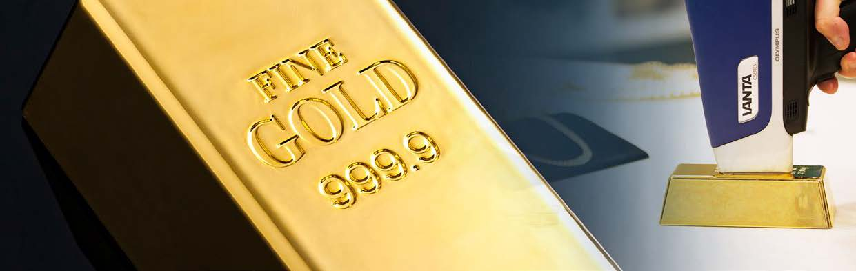 Gold bullion testing with Olympus XRF Analyzers