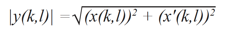 The TFM envelope is then computed using this expression