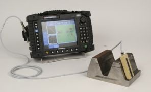 Gear-tooth inspection probe connected to OmniScan ECA