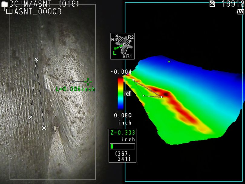 Pipe weld inspection using a videoscope